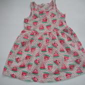 Фирменное H&M платье с арбузиками девочке 2-4 лет хлопок