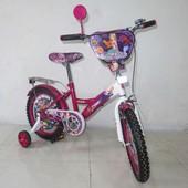 Велосипед Tilly Русалка 16 T-216210 crimson + white