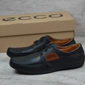 Мужские кожаные мокасины Ecco