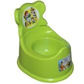Горшок детский со спинкой зеленый