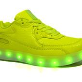 Яркие кроссовки с LED подсветкой режимы 158 неон
