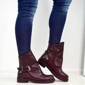 ботинки деми бордо и черные
