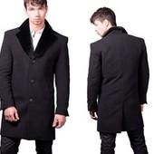 Пальто мужское в идеальном состоянии 50-52 размер