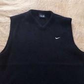 Шерстяная фирменная жилетка Nike р.46-48 М