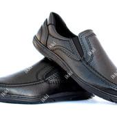 Классические туфли мужские на резинку (КЛТ-28ч)