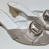 Шлепанцы женские, кожаные Hogl, размер 37,38