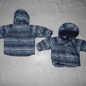 есть две! р. 68-74-80, термокуртка H&M, Швеция куртка демисезон или теплая зима от +5 до -5