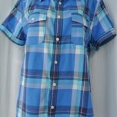 Фирменная мужская рубашка в клеточку East West Размер L.