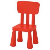 Детский стул, для дома/улицы, красный Mammut Маммут 403.653.66 Икеа Ikea