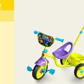 Велосипед 3-х колес TNT0102   с ручкой, колеса eva