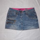S-М, поб 46-48, джинсовая юбка со стразами Yes Yes