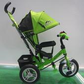 Велосипед 3-х колес TR17011   складной козырек,надувные колеса 12'' и 10''