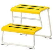 Табурет-лестница, желтый/белый Глоттен Glotten 302.713.68 Икеа Ikea