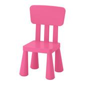 Кресло со спинкой десткое маммут ИКЕА малиновое, крісло дитяче малинове