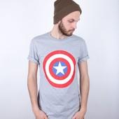 Футболка Liberty - Captain America's shield, Grey