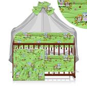 Детский комплект постельного Защита Одеяло Подушка Карман 6 в 1