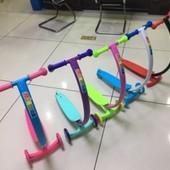 Самокат SC17104   3 цвета,3 колеса PVC