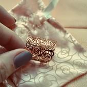 Кольцо «Кружевные розы»