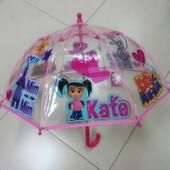 Perletti. Зонтик Мим-Мим и Катя, прозрачный. Детский зонт