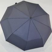 Мужской женский солидный зонт Lantana Автомат в клетку. Антиветер