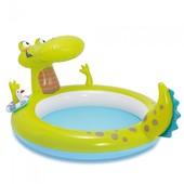 Бассейн детский надувной Крокодил 57431