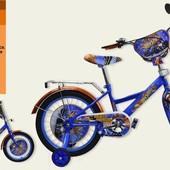 Велосипед 2-х колес 14'' 181409 (1шт) со звонком,зеркалом,руч.тормоз