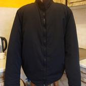 куртка черная балоневая зимняя на синтепоне Grale Размер М/L