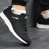 Мужские кроссовки сетка Adidas Neo black, три цвета