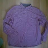 Фирменная тоненькая рубашка XL