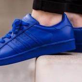 Мужские кроссовки adidas superstar синие