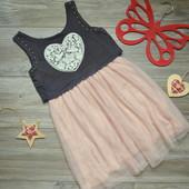 Платье H&M с сердцем (8-9 лет)