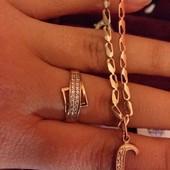 Золотое кольцо 585 проба с камнями