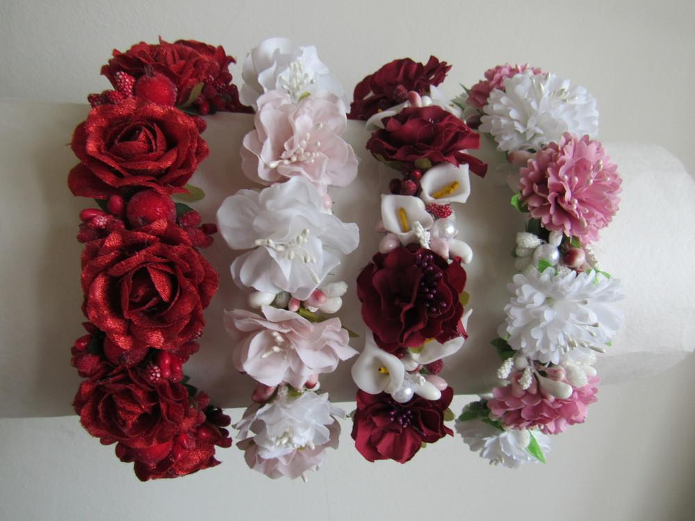 Шикарные обруч с цветами, розами на выпуск, утренник. В наличии фото №1