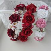Шикарные обруч с цветами, розами на выпуск, утренник. В наличии