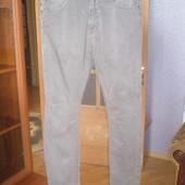 Штани сірі коттонові чоловічі завужені,розмір 42\32