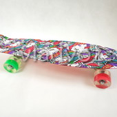 Детский скейт скейтборд пенни графити красн с Led Profi ms 1284-11