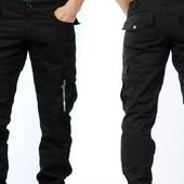 Ультра модные! Натуральные, качественные брюки карго! Новые с бирками! Размеры 29-34