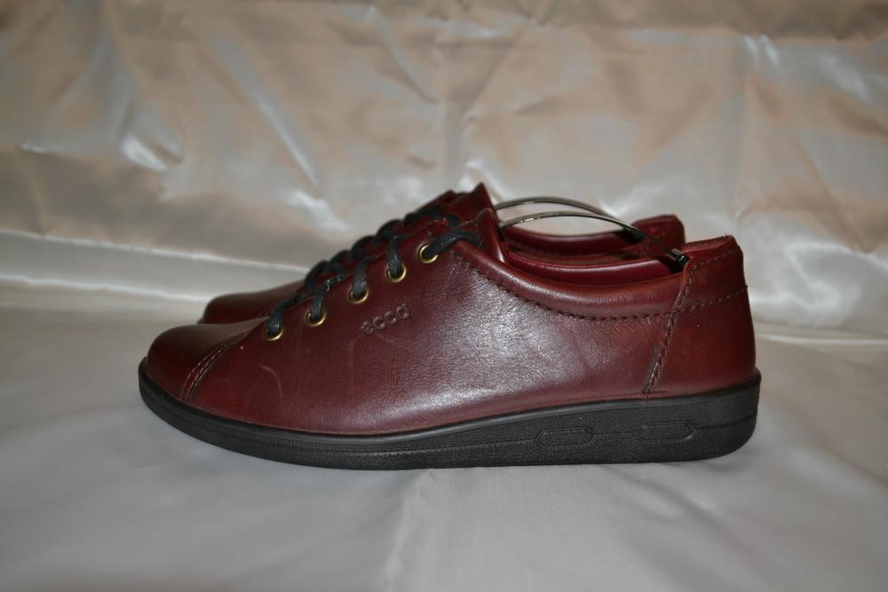 бордовые кожаные туфли ecco dc4dc54e86178