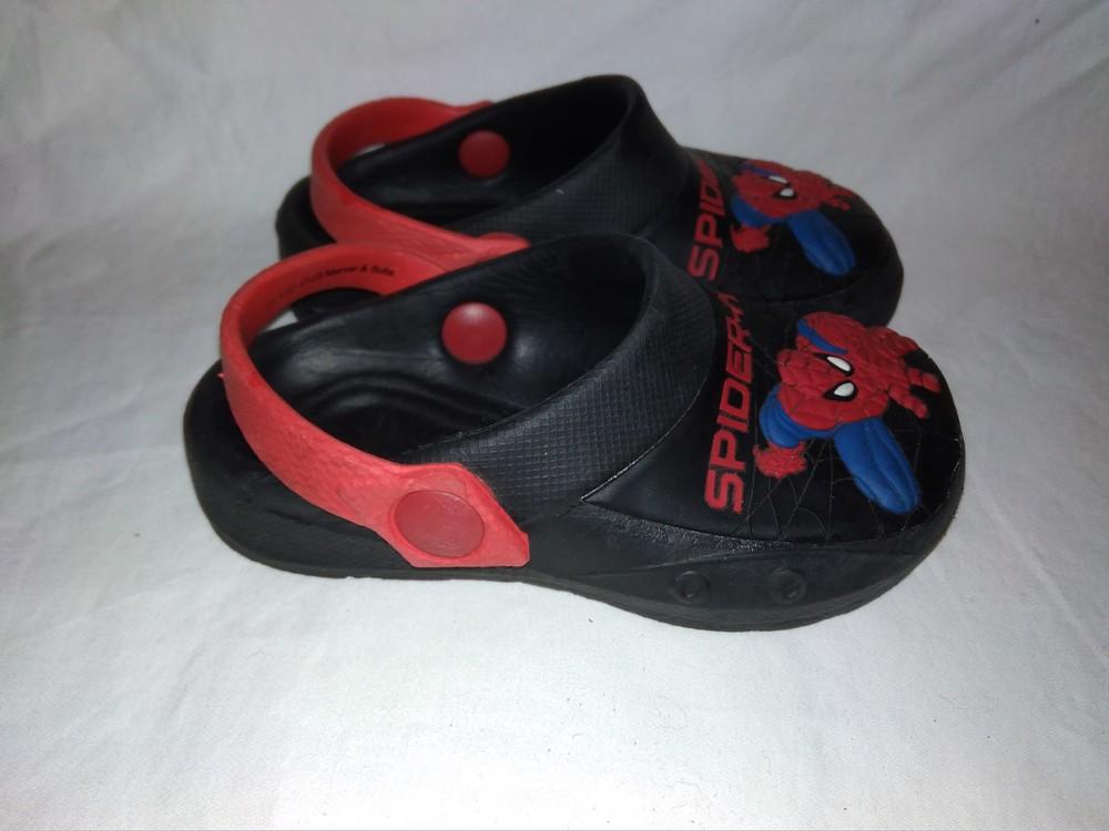 Кроксы spiderman р.7 стелька 14 см фото №1
