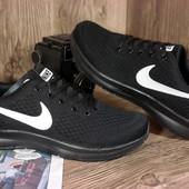 Мужские стильные кроссовки Nike черные. Удобные и стильные, товар в наличии