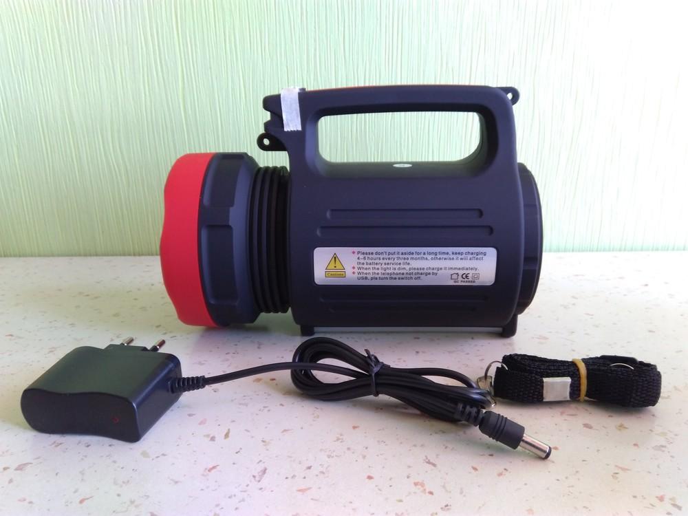 Мощный, светодиодный, универсальный фонарик, фонарь-прожектор плюс power bank фото №1