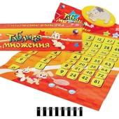 Говорящий плакат таблица умножения для детей на украинском языке интерактивный плакат учимся считать