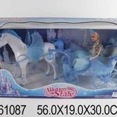 Карета с пегасом и куклой музыкальная 1361087