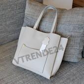 #16121A Gernas Grey Женская плотная сумка, внутри три отделения