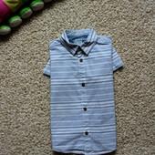 Стильная яркая рубашка на  4-5лет