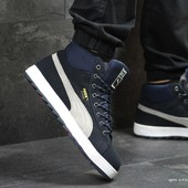 Зимние мужские кроссовки Puma Suede dark blue