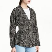Жакет с поясом, H&M, S пиджак куртка