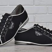 Туфли кожаные Комфорт мужские на шнуровке черные 39-44р
