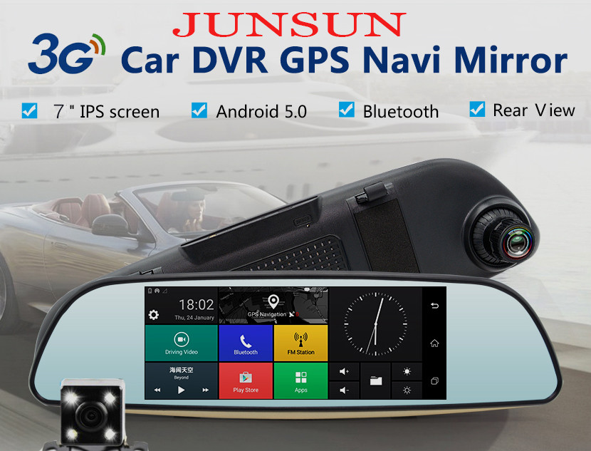 Зеркало регистратор-junsun 3g+2бонуса фото №1