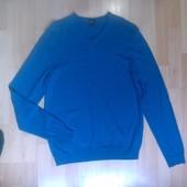 Фирменный шерстяной свитер кофта L-XL слим